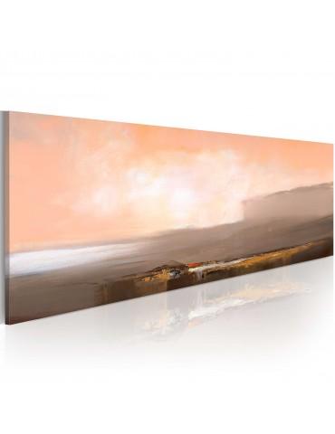Tableau peint à la main - Rose et gris A1-N1611-MK
