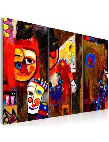 Tableau peint à la main - Abstract Carnival A1-N2634-MK