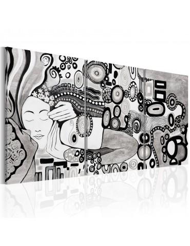 Tableau peint à la main - Silver Kiss A1-N6268MK