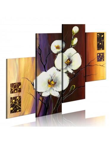 Tableau peint à la main - Orchidée blanche A1-N2502-MK