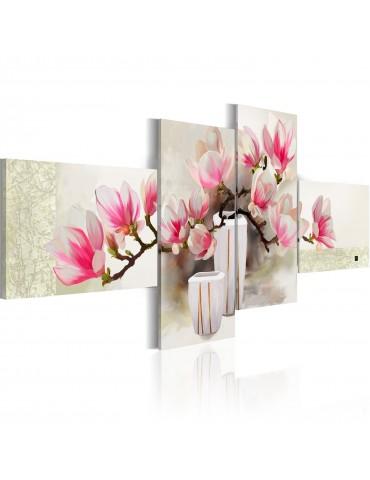 Tableau peint à la main - Parfum de magnolias A1-N2613MK