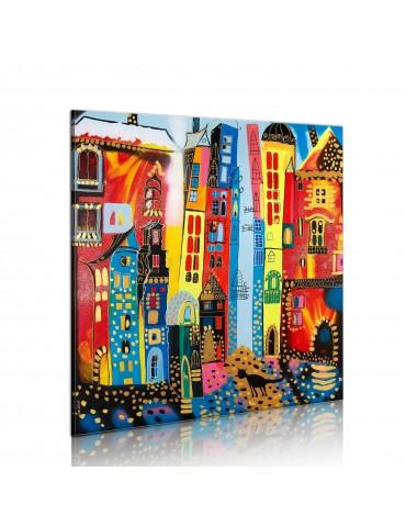 Tableau peint à la main - rue magique A1-N2483-MK