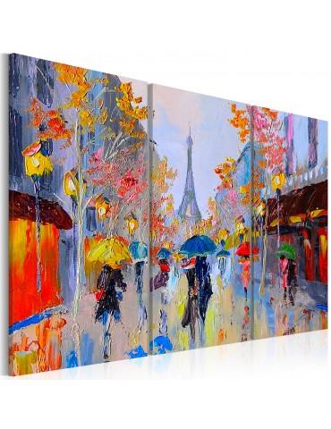 Tableau peint à la main - Rainy Paris A1-N6260MK
