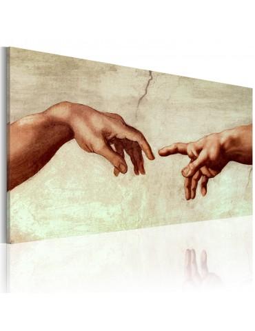 Tableau peint à la main - La création d'Adam: fragment de peinture A1-N2616MK