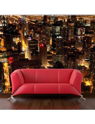 Papier peint - Ville de nuit, Chicago, É.-U. A1-F4TNT0436-P
