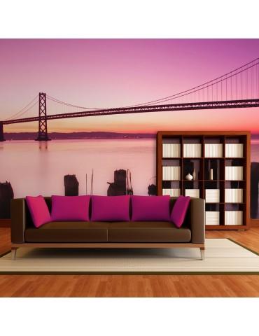 Papier peint - Baie de San Francisco en violet, Californie A1-F4TNT0486-P