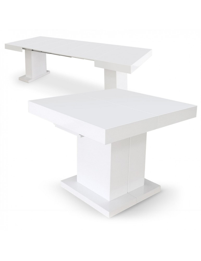 Table extensible Mustang Blanc laqué br16250blanc