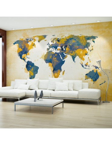 Papier peint - Map of the World - Sun and sky A1-F4TNT0022-P