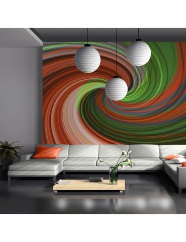 Papier peint - Mélange vert et orange A1-LFTNT0023