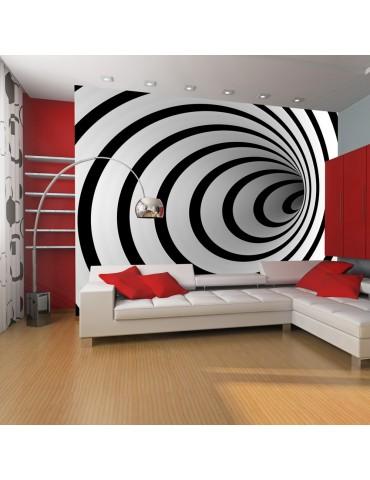 Papier peint - Tunnel 3D noir et blanc A1-LFTNT0054