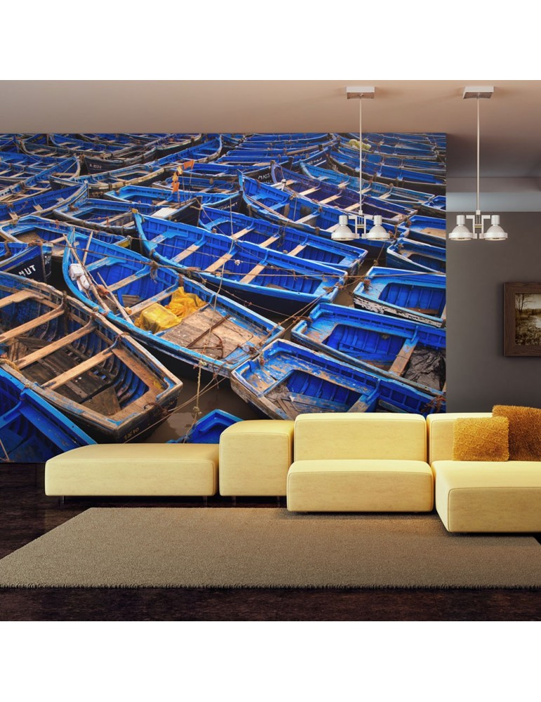 Papier peint - Bateaux de pêche bleus A1-LFTNT0193