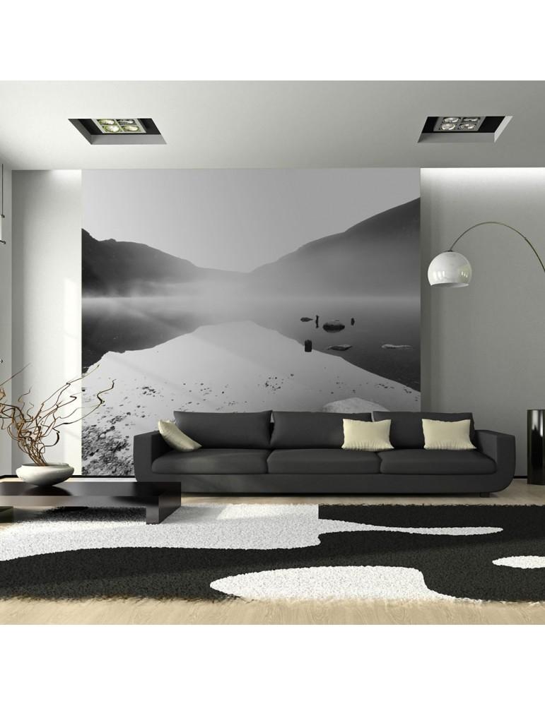 Papier peint - Lac de montagne en noir et blanc A1-LFTNT0913