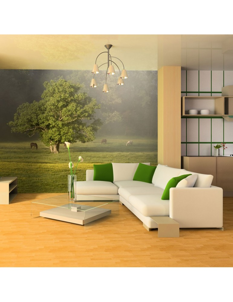 Papier peint - Chevaux et arbre A1-LFTNT0918