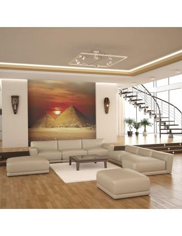 Papier peint - La nécropole de Gizeh - coucher de soleil A1-LFTNT0950