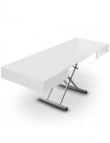 Table basse relevable Cassidy Blanc B2232-Blanc