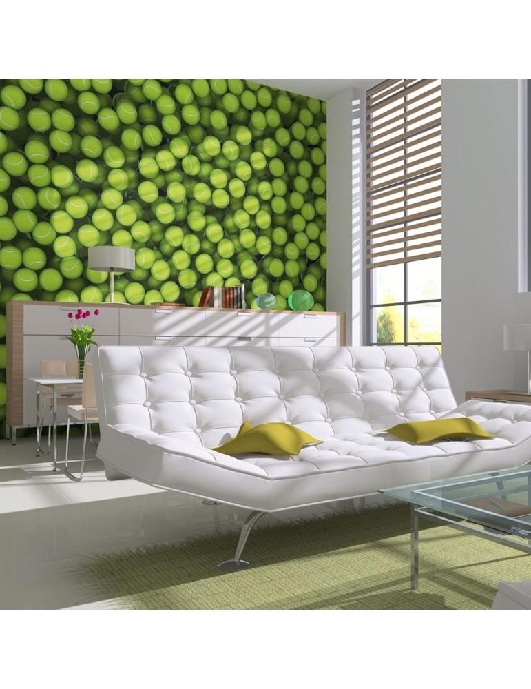 Papier peint - Balles de tennis (fond) A1-LFTNT1444