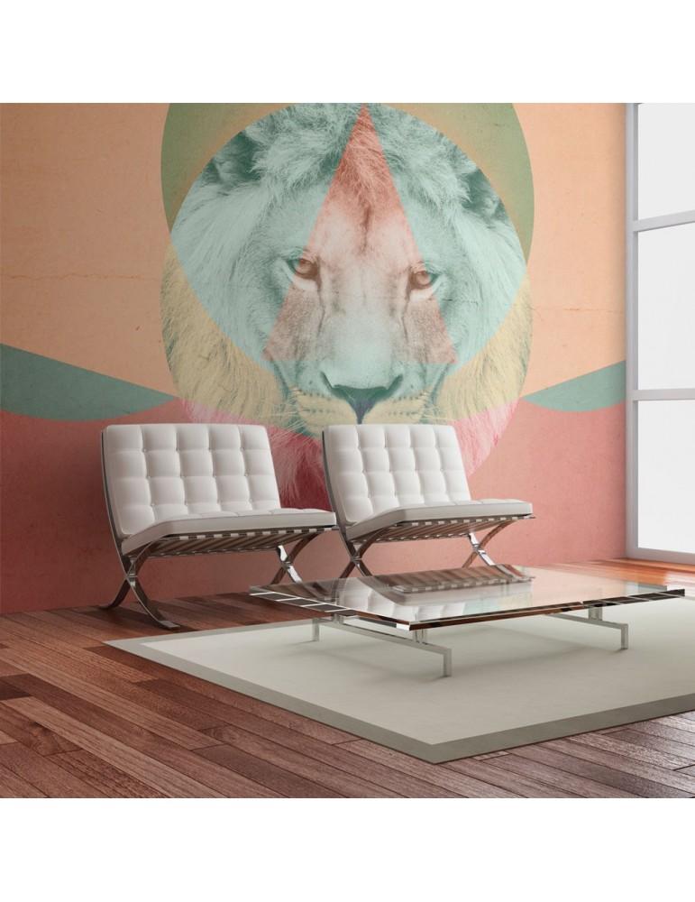 Papier peint - lion (motif graphique) A1-LFTNT1475