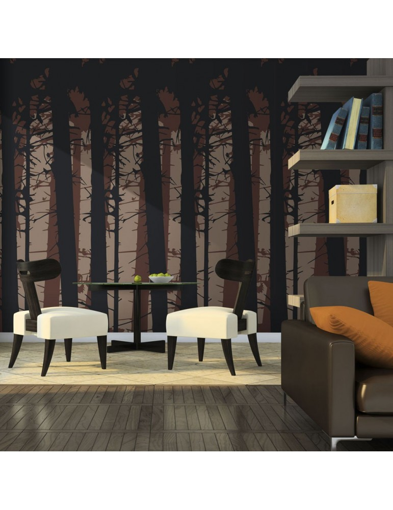 Papier peint - Abstract dark forest A1-LFTNT0738