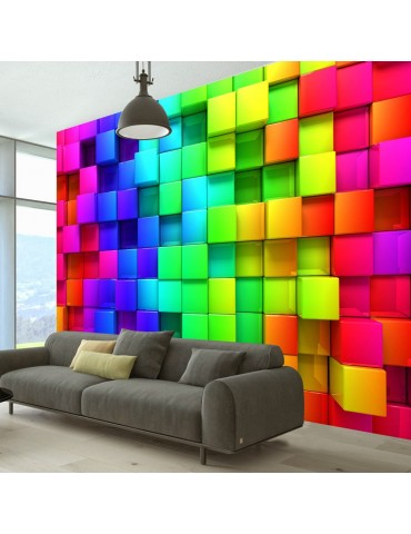 Papier peint - Colourful Cubes A1-XXLNEW011491