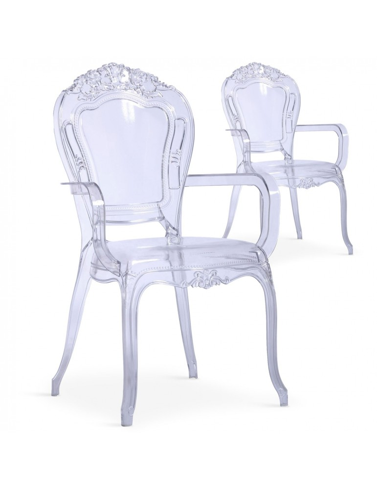 Lot de 2 chaises royales Cosy Crown Transparent cnpc1007transparent