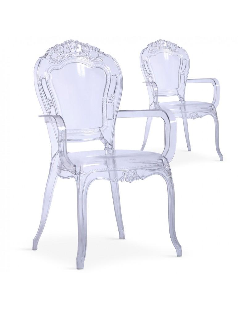 Lot de 2 chaises royales Cosy Crown Transparent cnpc1007transparent