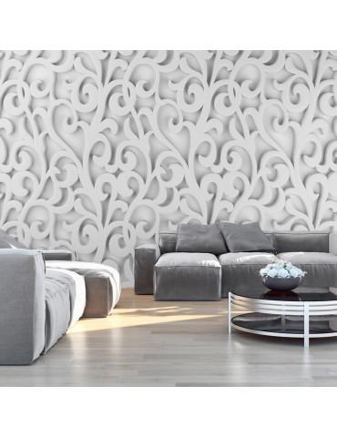 Papier peint - White ornament A1-SNEW011290