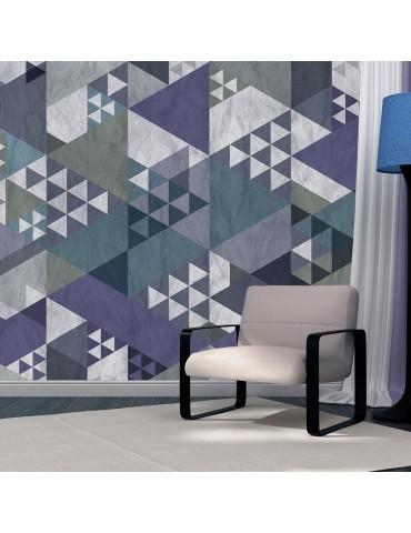 Papier peint - Blue patchwork A1-WSR10m188