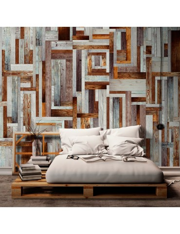 Papier peint - Labyrinth of wooden planks A1-WSR10m215