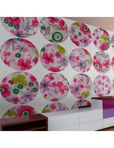 Papier peint - Pink meadow - circle A1-WSR10m594-P