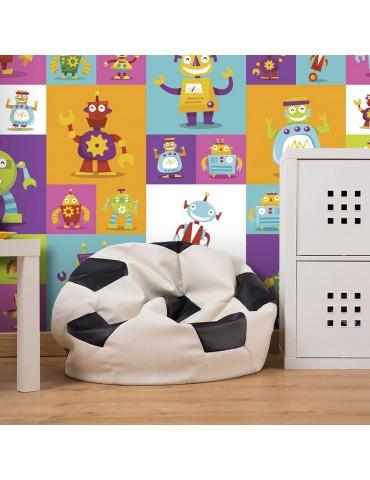 Papier peint - Colorful Robots A1-WSR10m638-P