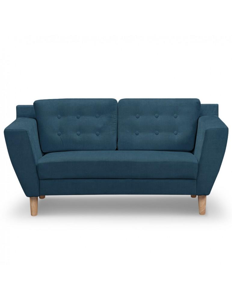 Canapé 2 places Gibus Tissu Bleu hm1651220116bleu