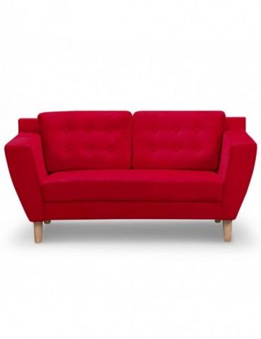 Canapé 2 places Gibus Tissu Rouge hm1651220125rouge
