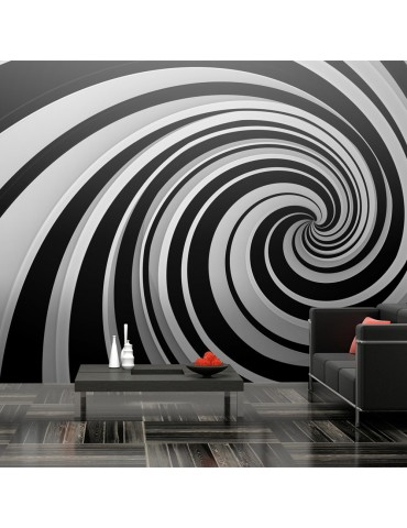 Papier peint XXL - Black and white swirl A1-F5TNT0001-P
