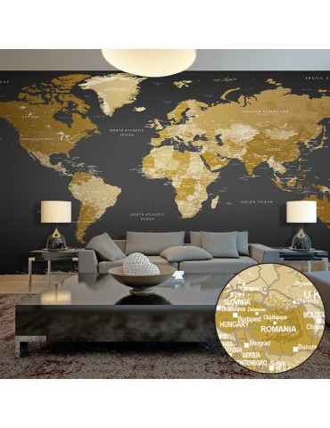 Papier peint XXL - World Map: Modern Geography II A1-500x280new1368