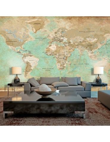 Papier peint XXL - Turquoise World Map II A1-500280vFT1371