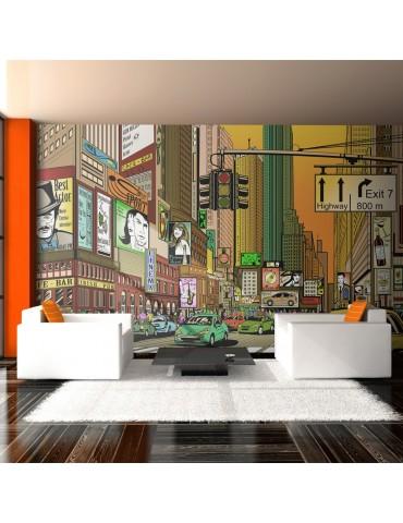 Papier peint XXL - Ville animée - NY A1-F5TNT0053-P