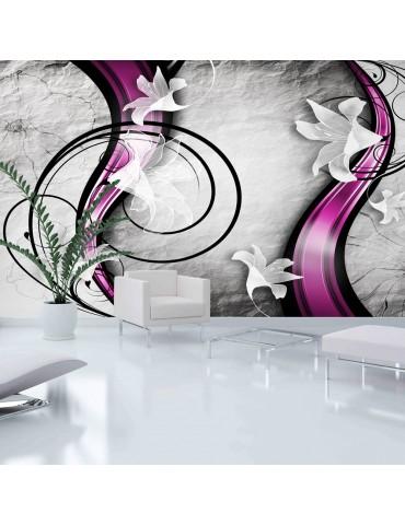Papier peint XXL - Flowery Ribbon A1-500x280new110