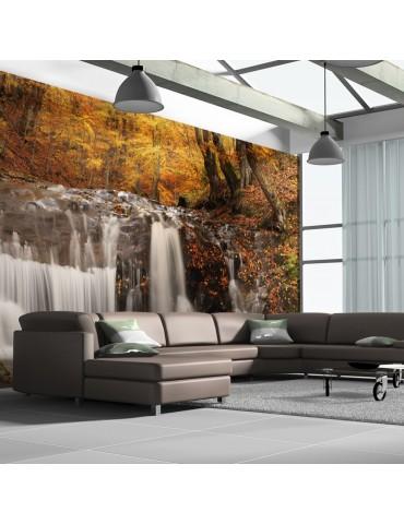 Papier peint XXL - Autumn landscape: waterfall in forest A1-F5TNT0008-P