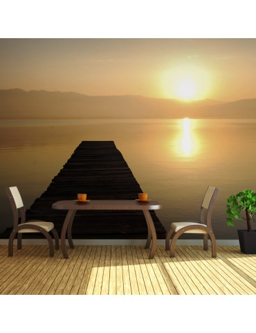 Papier peint XXL - ponton, lac, coucher de soleil... A1-F5TNT0010-P