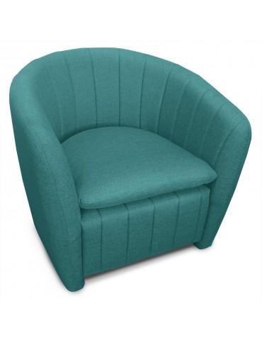 Fauteuil Noumea Tissu Bleu vert lf32251bleuvert