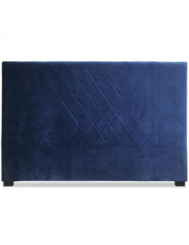 Tête de lit Diam 160cm Velours Bleu lf257160vbleu