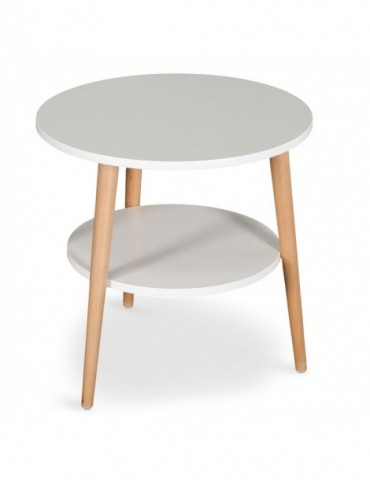 Table basse d'appoint scandinave Tiny Blanc 16bj9032blanc