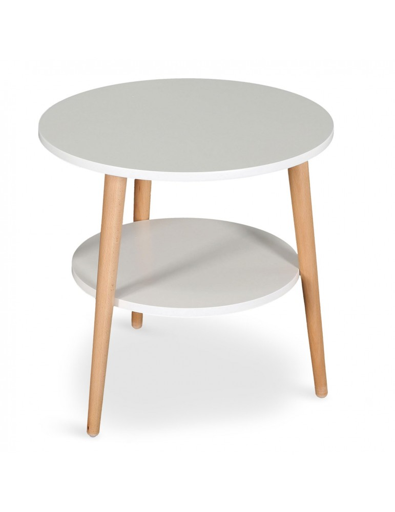 Table basse d 39 appoint scandinave tiny blanc 16bj9032blanc - Table d appoint scandinave ...