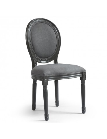 Lot de 20 chaises de style médaillon Louis XVI Gris Tissu Gris 24501ksfltlot20grey