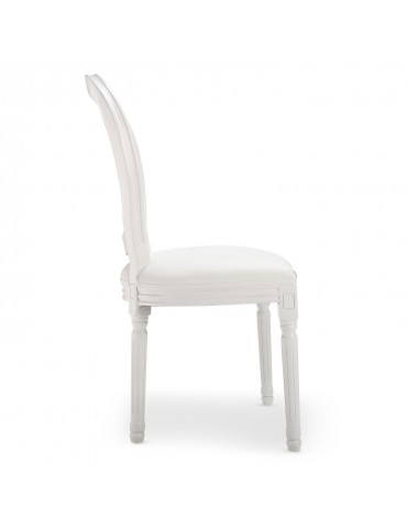 Lot de 20 chaises médaillon Louis XVI Simili (P.U) Blanc 24501lot20publanc