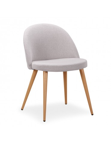 Lot de 4 chaises scandinaves Maury tissu Gris dc5106grey