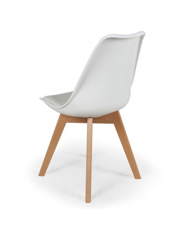 Lot de 4 chaises scandinaves Conor Simili (P.U) Blanc cy1602puwhite