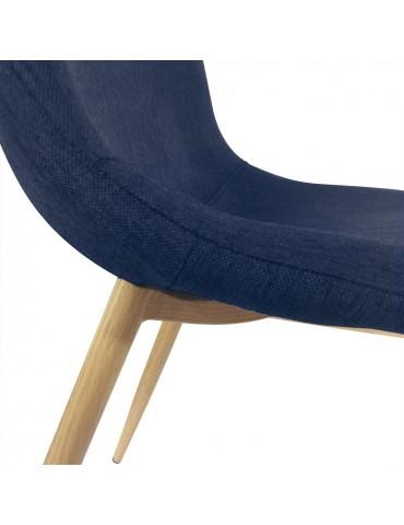 Lot de 4 chaises scandinaves Gao Tissu Bleu dc5081bleu