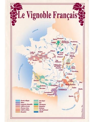 Torchon Vignoble France 8491013000Torchons & Bouchons