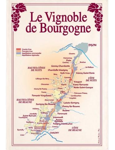 Torchon Vignoble Bourgogne 8491094000Torchons & Bouchons